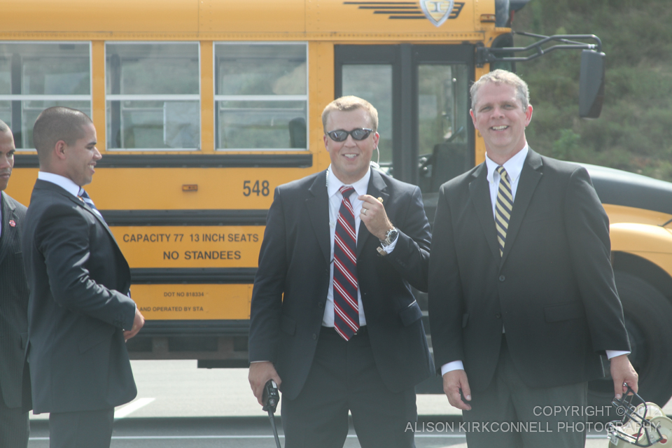 Assistant Principal Bob Dawson enjoying a light moment with the secret service - 1/200 @5.6 112mm ISO100