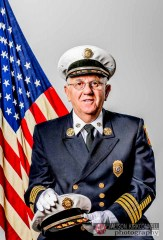 Fire chief HDR portrait blooper