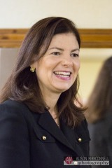 US Senator Kelly Ayotte attends the opening of the Homeland Heroes Foundation warehouse on September 25, 2014