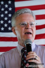 Former LA governor and presidential candidate Buddy Roemer in Salem, NH September 5, 2011